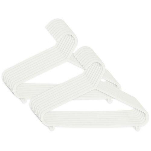 bieco Kinderkleiderbügel 16 St. Weiß Kleiderbügel Baby Kinder Kleiderbügel Kunststoff weiß