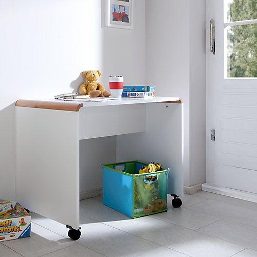 Relita Schreibtisch SAM, Buche massiv, weiß / braun