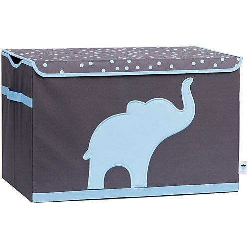 STORE IT! Spielzeugtruhe Elefant, grau/blau blau/grau