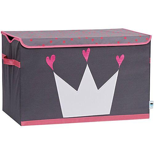 STORE IT! Spielzeugtruhe Krone, grau/pink rosa/grau
