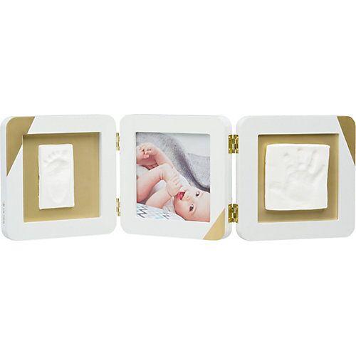 Baby Art Gipsabdruck Set mit 3-tlg. Bilderrahmen My Baby Touch, weiß/ mit Goldkante weiß/gold