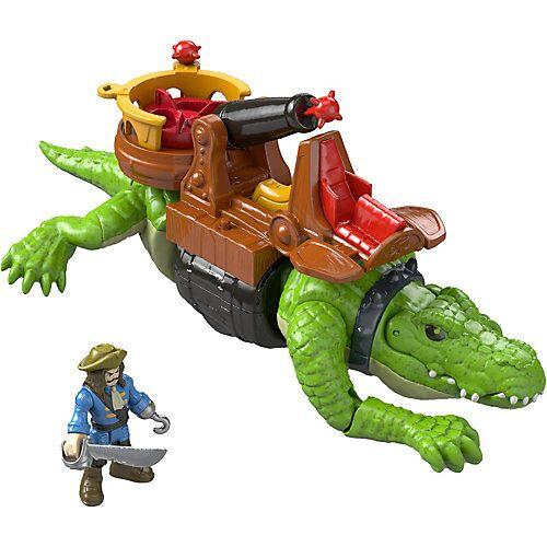 Mattel Imaginext Piraten - Laufendes Krokodil & Käpt'n Hook - Actionfigur