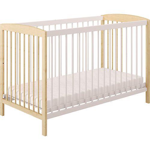 Polini-kids Kinderbett Simple 101 aus Holz, weiß, 3022-17