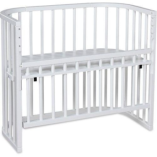 Tobi Beistellbett babybay comfort, weiß lackiert, extra belüftet