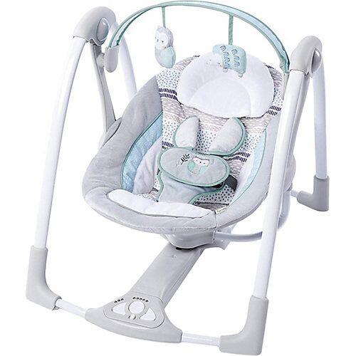 Ingenuity Tragbare Babyschaukel inkl. Adapter, Abernathy grau/hellblau