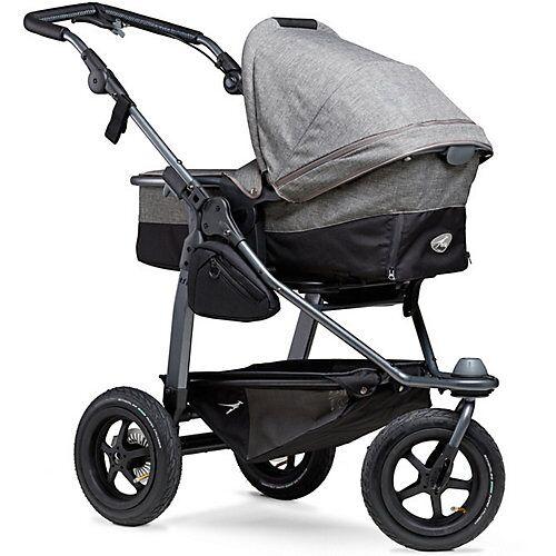TFK Kombi Kinderwagen TFK Mono Premium, mit Luftrad-Set, grau