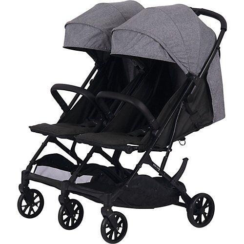 knorr-baby Buggy Geschwisterwagen Twin-Easy Fold, grau