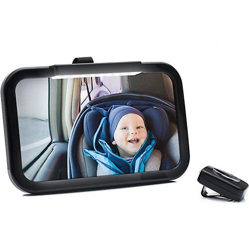fillikid Autospiegel schwarz mit LED