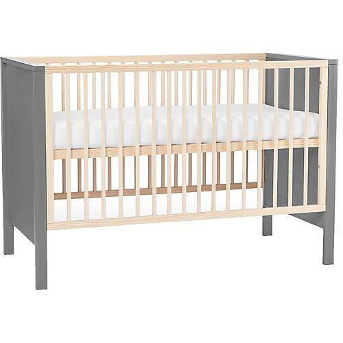 Kinderkraft Kinderbett MIA, inkl. Matratze, 60 x 120 cm, grau