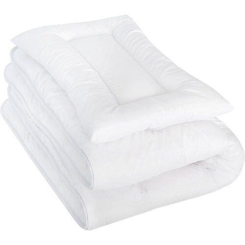 Urra FUN Steppbettset, 80 x 80 cm + 35 x 40 cm weiß