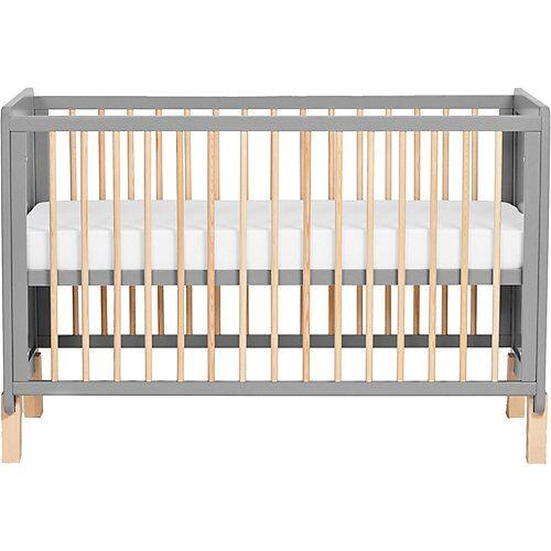 Kinderkraft Kinderbett NICO, inkl. Matratze, grau