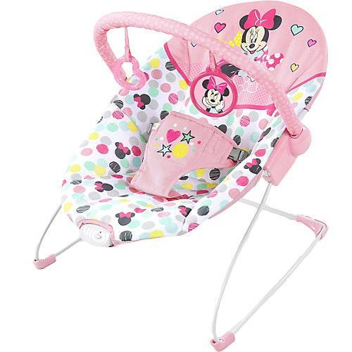 Bright Starts vibrierende Babywippe, Disney Baby Minnie Mouse Spotty Dotty pink
