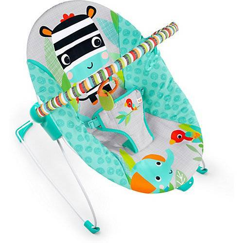 Bright Starts vibrierende Babywippe, Zig Zag Zebra blau