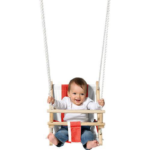 TWIPSOLINO Stoff-Babyschaukel rot/weiß gestreift