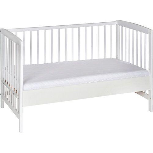 Schardt Beistell- Kinderbett Micky, Massivholz weiß lackiert, 60x120 cm