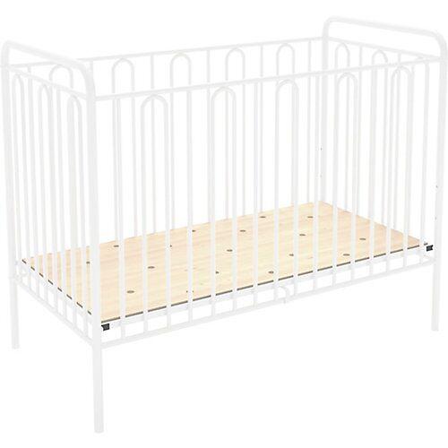 Polini-kids Kinderbett Vintage 110 aus Metall, weiss