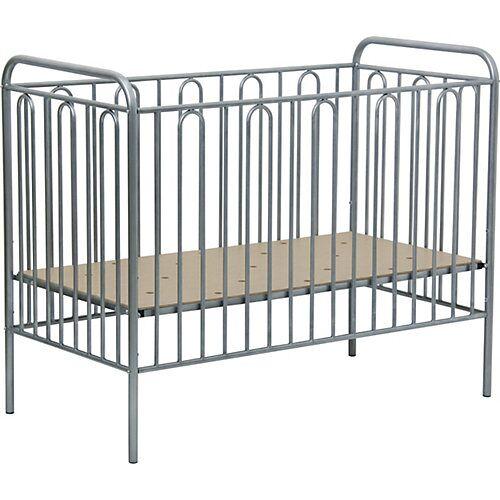Polini-kids Kinderbett Vintage 110 aus Metall, silber