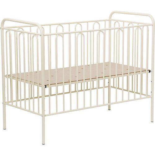 Polini-kids Kinderbett Vintage 110 aus Metall, cremé