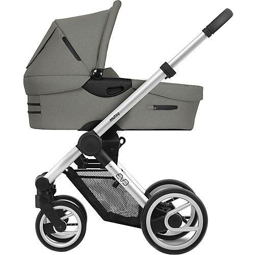 mutsy Kombi Kinderwagen Evo, Bold dune grey, Gestell silber grau
