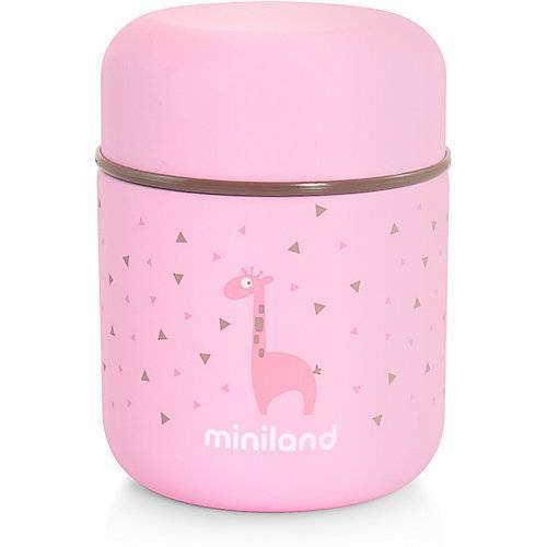 Miniland Thermobehälter Silky Thermo Food, 280 ml, rosa