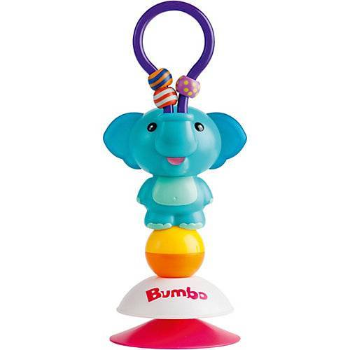 Bumbo Saugnapf Toy - Enzo der Elefant türkis-kombi