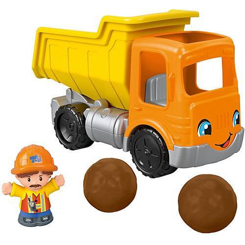 Mattel Fisher-Price Little People Kipplaster, Spielfiguren-Set, Spielzeugauto, Spielset