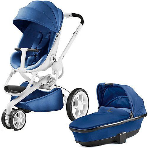 Quinny Kombi Kinderwagen Moodd, blue base/wihte