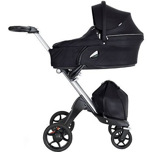 Stokke® Xplory® + Babyschale Carry Cot, Black