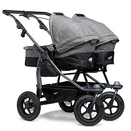 TFK Kombi Kinderwagen TFK Duo Premium, mit Luftrad-Set, grau
