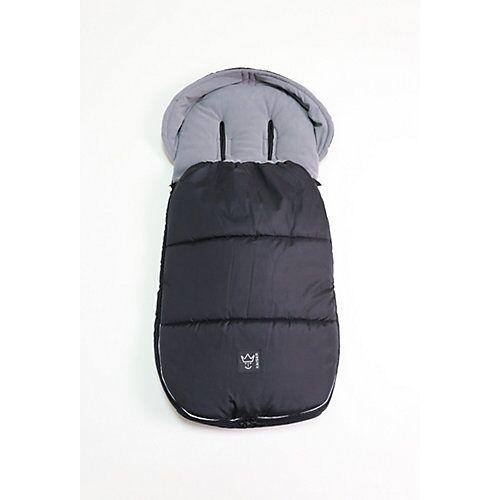 Kaiser LUKKY Thermo Fußsack - passend alle Kinderwagen mit extra Schlitz Joie Kinderwagen, black schwarz  Kinder