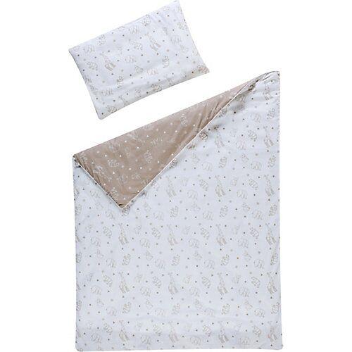 Schardt Bettwäsche Origami, Baumwolle, beige, 100 x 135 cm + 40 x 60 cm beige/weiß