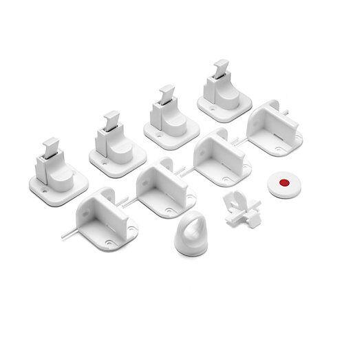 Elanee Magnetschloss, Vorteilspack, 4 Stück weiß
