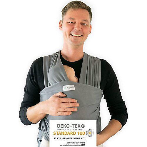 Mammacita Tragetuch Babys elastisch aus OEKO-TEX zertifizierter Baumwolle. Babytragetuch, Babytrage, Tragetücher Tragetuch elastisch Tragetücher Kinder grau  Kinder