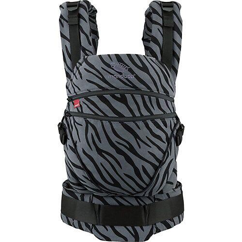 Manduca Babytrage XT - Limited Edition, Zebra anthrazit/schwarz