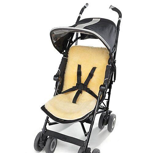 Hofbrucker Kinderwagen Lammfell Einlage Fußsäcke Kinder gelb  Kinder