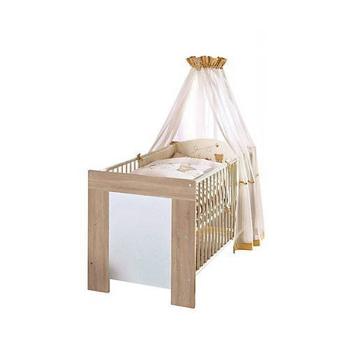 Babybett Michi inkl. Lattenrahmen + 3 Schlupfsprossen MDF Weiß 90x200 weiß