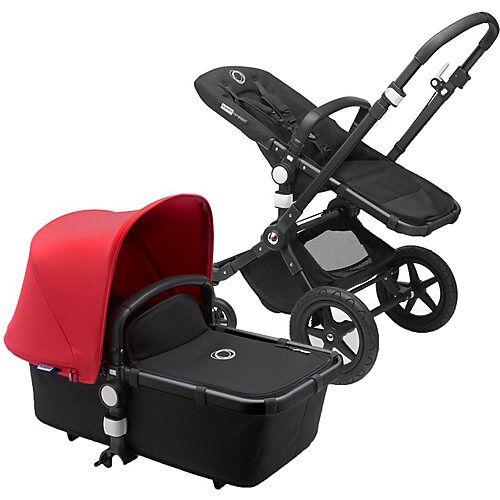 bugaboo Kombi Kinderwagen Cameleon3plus complete, schwarz/schwarz-rot schwarz/rot