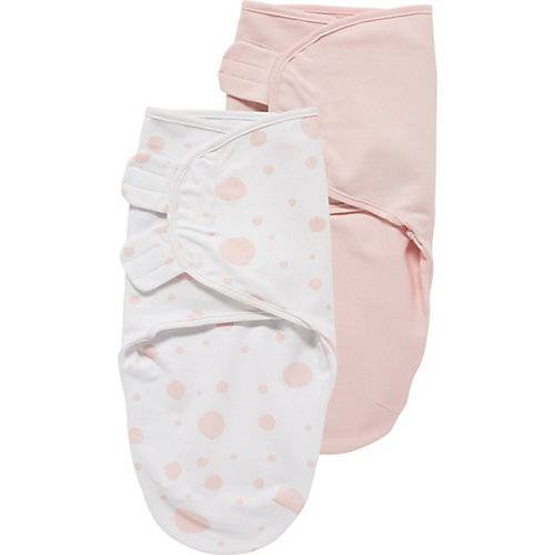 Meyco Einschlagdecke SwaddleMeyco Dots/Uni, 4 - 6 Monate rosa