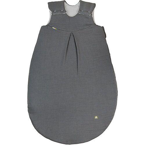 Odenwälder BabyNest Musselin-Schlafsack wattiert, grey grau