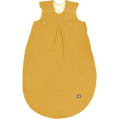 Odenwälder BabyNest Musselin-Schlafsack wattiert, mustard gelb