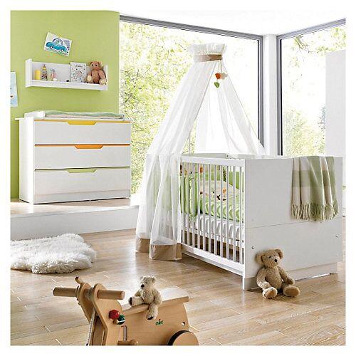 Geuther Sparset FRESH (Kinderbett & Wickelkommode) , weiß/bunt