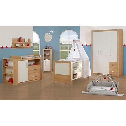 Roba Kinderbett & Wickelkommode (breit) Sparset LOUISA, Weiß/Eiche weiß