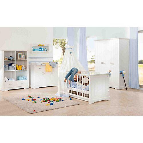 Geuther Kinderbett & Wickelkommode Sparset COTTAGE, weiß