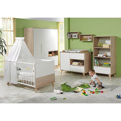 Geuther Sparset METTE (Kinderbett & Wickelkommode), Buche/weiß