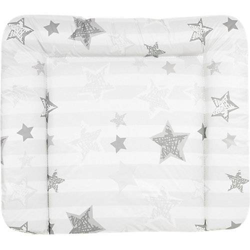 myToys-COLLECTION ALVI Wickelauflage Silver Star, 85 x 70 cm silber