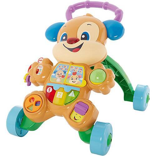 Mattel Fisher-Price Lernspaß Hündchens Lauflernwagen, Lauflernhilfe Baby, Laufwagen