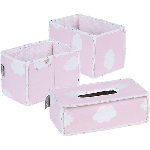 Roba Pflegeorganizer Kleine Wolke, 3er- Set, rosa