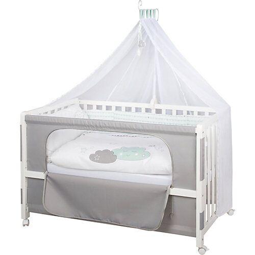 Roba Beistell- und Kinderbett komplett, 60 x 120 cm, Room Bed Happy Cloud, mint/weiß