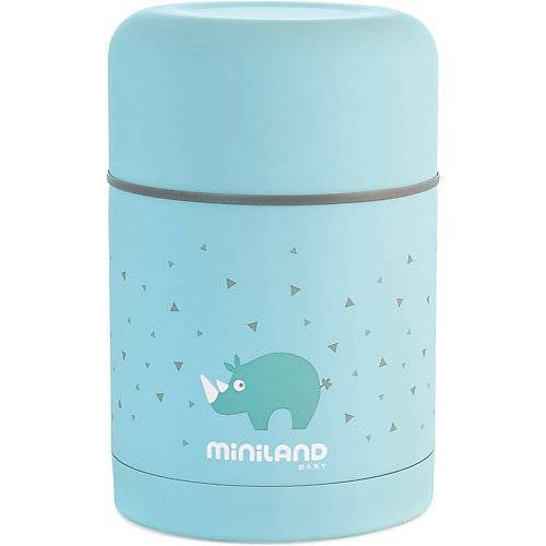 Miniland Thermobehälter Silky Thermo Food, 600ml, blau
