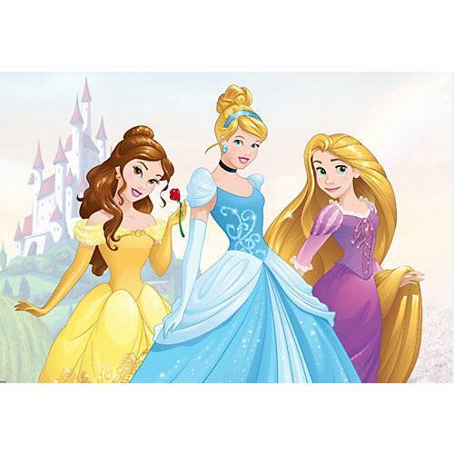 Decofun Fototapete Disney Prinzessinnen, Vlies, 190 x 276 cm